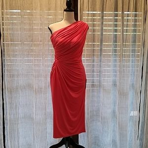 Tadashi Collection One Shoulder Dress/Coral/NWT/6